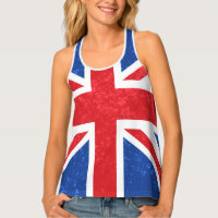 Union Jack, Traditional Colors Tank Top