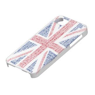 """Union Jack"" Typographic Design iPhone 5/5S Case"