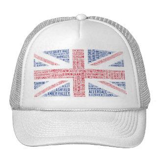 """Union Jack"" Typographic Design Trucker Hat"
