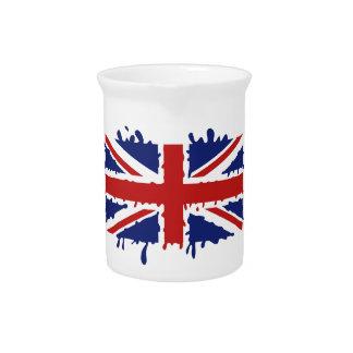 Union Jack U.K. Flag - Dripping Beverage Pitcher