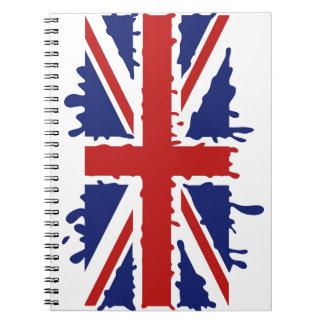 Union Jack U.K. Flag - Dripping Notebook
