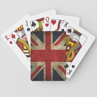 Union Jack UK British Flag Faded Antique Poker Cards