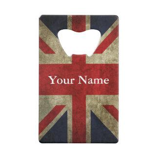 Union Jack UK British Flag of England Credit Card Bottle Opener
