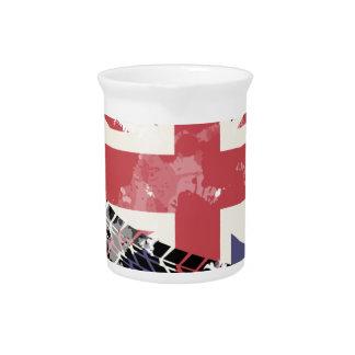 Union Jack UK Flag Beverage Pitchers