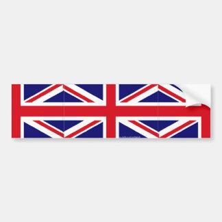 Union Jack UK flag bumper sticker
