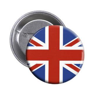 Union Jack UK Flag Circle Designs. Button