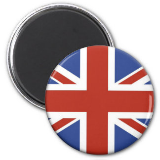 Union Jack UK Flag Circle Designs. Refrigerator Magnet