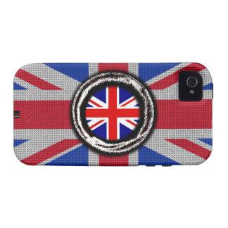Union Jack UK Flag Emboss iPhone 4 Tough Case