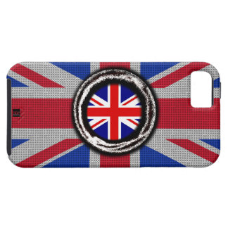 Union Jack UK Flag Emboss iPhone 5 Tough Case