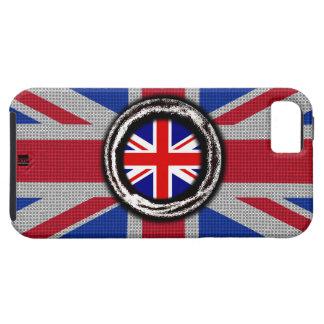 Union Jack UK Flag Emboss iPhone 5 Tough Case