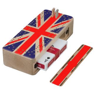 Union Jack - UK Flag Maple Cribbage Board