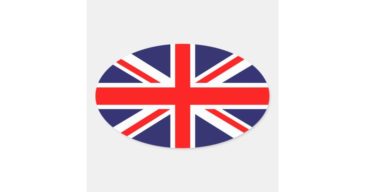 Union jack uk flag oval sticker zazzle for Ohrensessel union jack