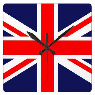 Union Jack - UK Flag Square Wall Clock