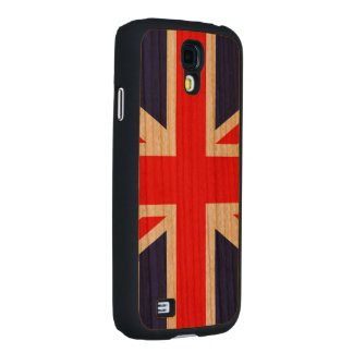 Union Jack - UK Flag Carved® Cherry Galaxy S4 Case