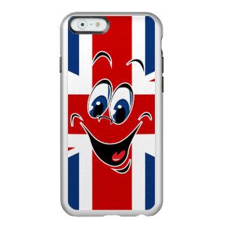 Union Jack UK GB Flag Smiley Face Emoticon Incipio Feather Shine iPhone 6 Case
