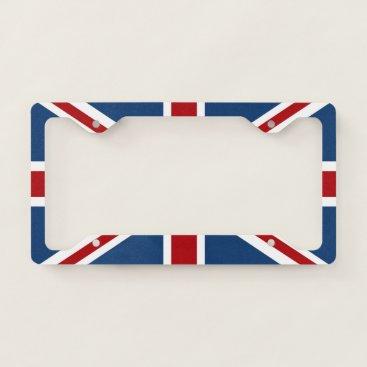 AnyTownArt Union Jack UK Patriotic Flag License Plate Frame