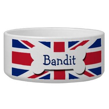 Ricaso_Pets Union Jack UK Personalized Bowl