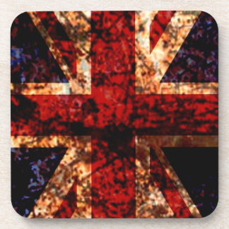 Union Jack UK Worn Flag Drink Coasters