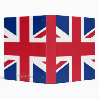 Union Jack United Kingdom Vinyl Binders