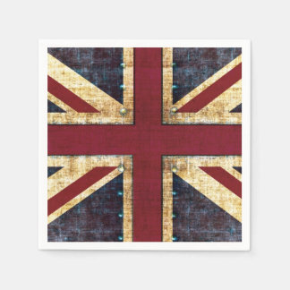 Union Jack United kingdom flag Standard Cocktail Napkin
