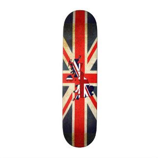 Union Jack United Kingdom Map Skateboard