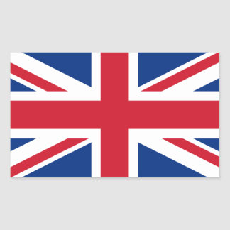 Union Jack United Kingdom Rectangular Sticker