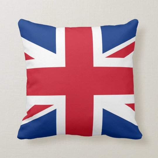 Union Jack United Kingdom Throw Pillow