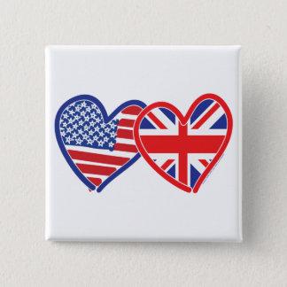 Union Jack/USA Button