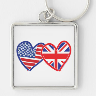 Union Jack/USA Keychain