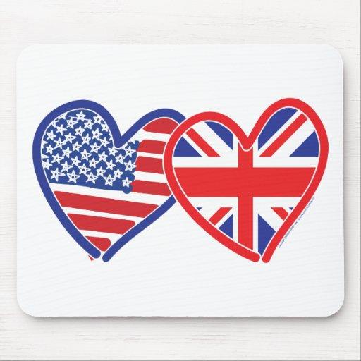 Union Jack/USA Mouse Pad
