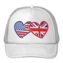 Union Jack/USA Trucker Hat