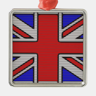 Union Jack Vector Art Metal Ornament