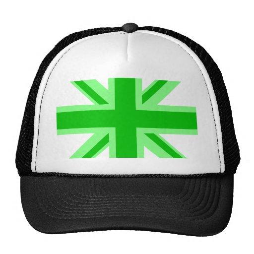 Union Jack verde Gorra