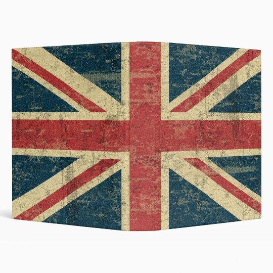 Union Jack Vintage Distressed 3 Ring Binder