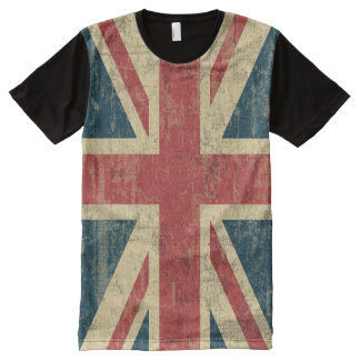 Union Jack Vintage Distressed All-Over Print T-shirt