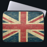 "Union Jack Vintage Distressed Computer Sleeve<br><div class=""desc"">A patriotic red,  white and blue Union Jack vintage aged and faded British FLAG design . Flag of Great Britain United Kingdom</div>"