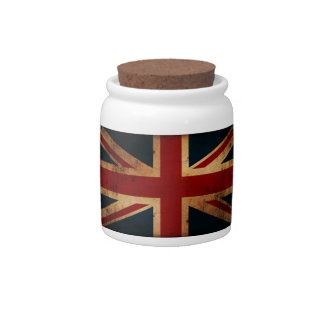 Union Jack (vintage distressed look) Candy Dishes