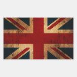 Union Jack (vintage distressed look) Rectangular Sticker