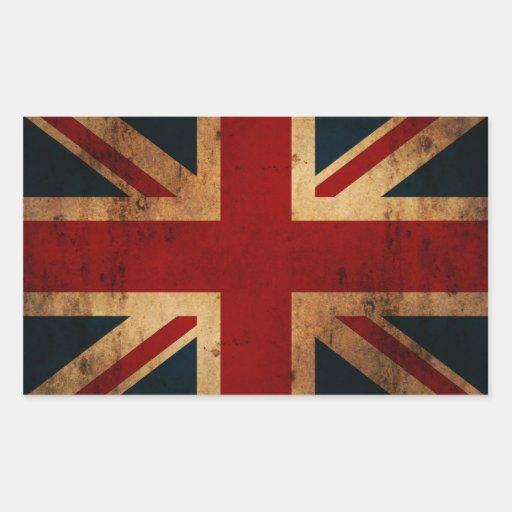 Union Jack (vintage distressed look) Rectangle Sticker
