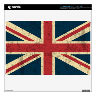 Union Jack Vintage Distressed Skin For The MacBook