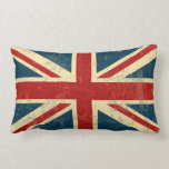 "Union Jack Vintage Faded Lumbar Pillow<br><div class=""desc"">A patriotic red,  white and blue Union Jack vintage aged and faded British FLAG design . Flag of Great Britain United Kingdom</div>"