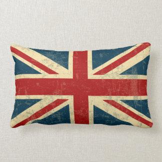 Union Jack Vintage Faded Lumbar Pillow