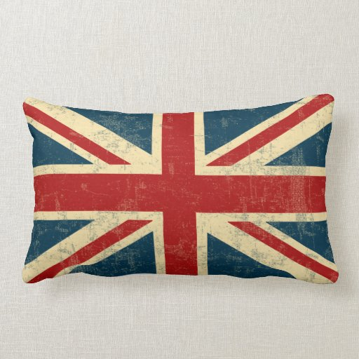 Union Jack Vintage Faded Throw Pillow