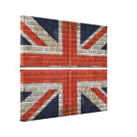 union jack wall flag Canvas Gallery Wrapped Canvas