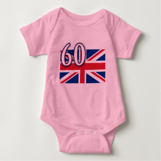Union Jack with 60 for the Diamond Jubilee Baby Bodysuit