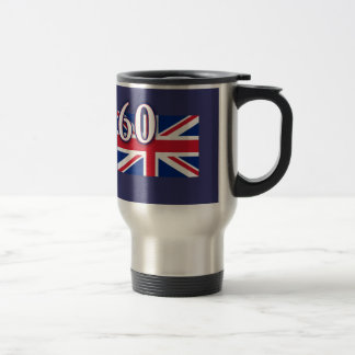 Union Jack with 60 for the Diamond Jubilee Travel Mug