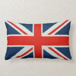 Union Jack with Stained Glass Effect Throw Pillow