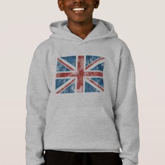 Union Jack worn Hoodie