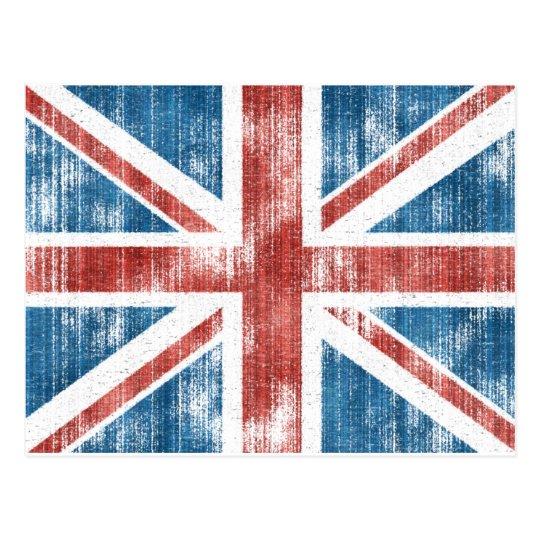 Union Jack worn Postcard