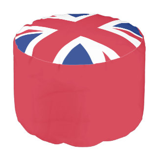 Union Jack Woven Cotton Round Pouf